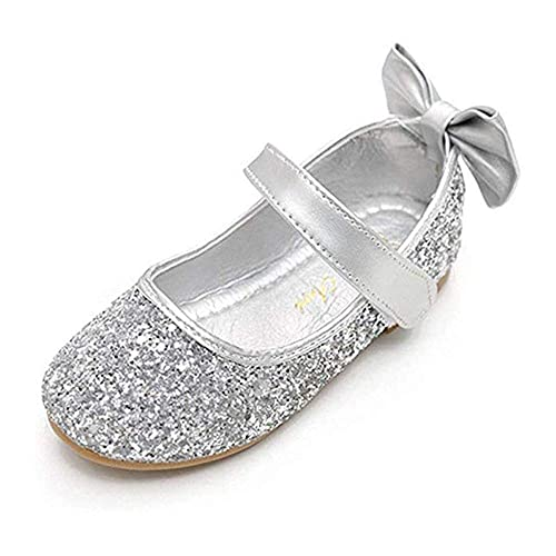 6f51dba92127 YING LAN Girl Round-Toe Sparkle Bowknot Ballet Ballerina Flat Shoes