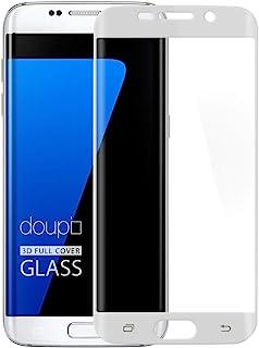 doupi FullCover Panzerfolie für Samsung Galaxy S7 Edge, Preimium 9H Hartglas HD Displayschutz Anti Kratzer Glas Schutzfolie, weiß