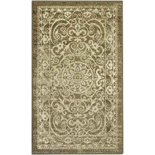 Maples Rugs Pelham Vintage Kitchen Rugs Non Skid Accent Area Carpet [Made in USA], 2'6 x 3'10, Khaki