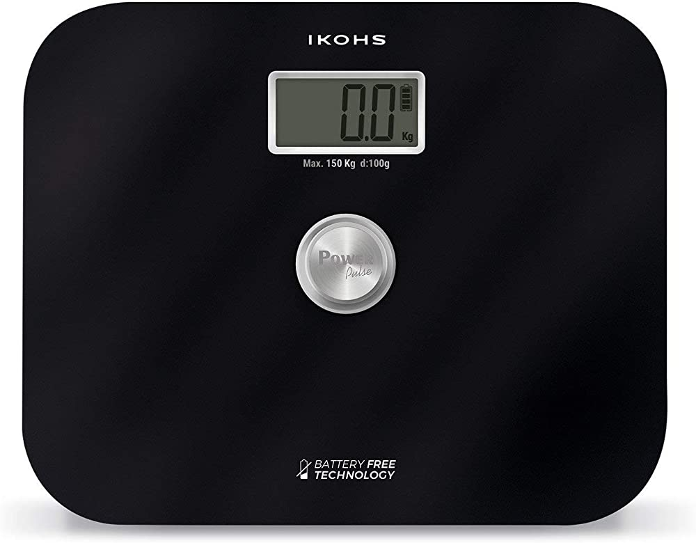 Ikohs exiges - bilancia da bagno (nero) pesapersone senza batterie