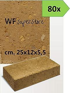 50 Mattoni di tufo chiaro 37x14x11cm blocchi per ornamento aiuole e giardino