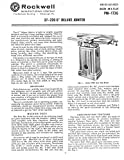 Delta Rockwell 37-220 6' Deluxe Jointer Instructions Reprint [Plastic Comb]