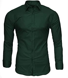 Kayhan Homme Chemise Manches Longues Slim Fit Business Classe Casual Repassage Facile Coton Modell - Uni S-6XL
