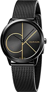 Calvin Klein Unisex-Adult Quartz Watch, Analog Display and Stainless Steel Strap K3M224X1