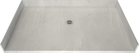 Tile Redi 4248CBF-PVC Barrier Free Shower Pan with Integrated Center PVC Drain, 42-Inch Depth by 48-Inch Width