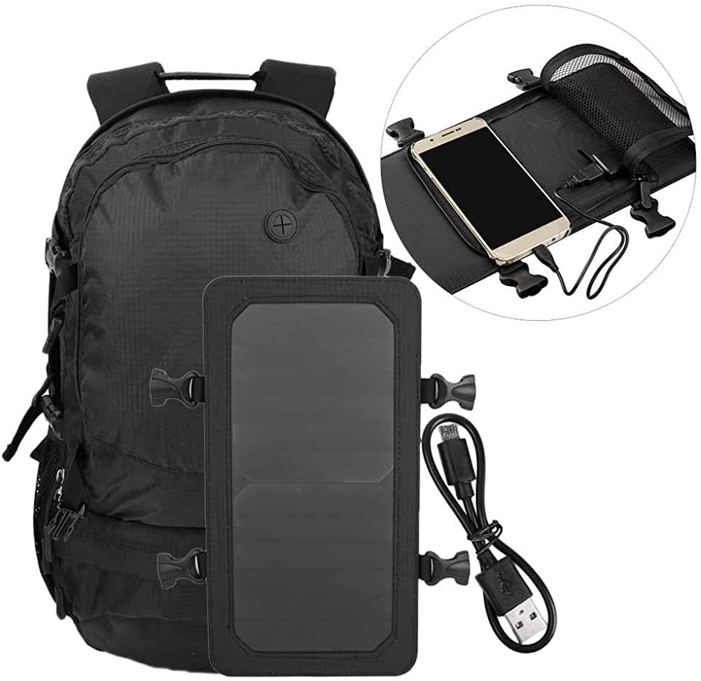 Solar Backpack Nylon Super-cheap Outdoor Max 84% OFF Power Sports Camping Hiking