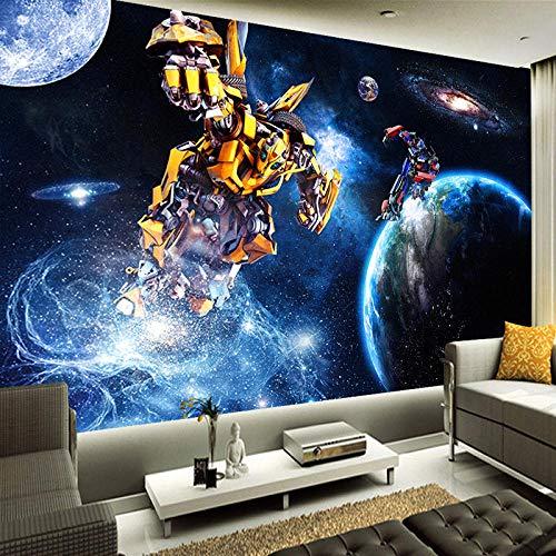 Boy 'Room Transformers Fototapete Wohnzimmer 3D Setero Space Wand Dekoration 3D Wandbild Tapete Wandtapete 300 * 210cm