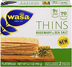 Wasa Flatbread Thins Crackers, Rosemary and Sea Salt, 6.7 Ounce