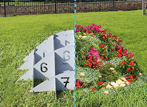 Palram Gardenyum Pflanzgefäß rund Hügel Ø 120 cm - Ökosystem Garten- und Landschaftsbau Stabile Outdoor Pflanzen Schönes Design 3D Pflanzen