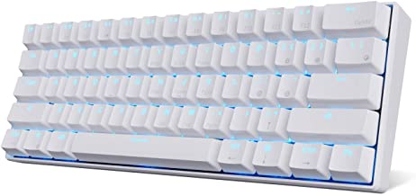 RK ROYAL KLUDGE RK61 Wireless 60% Mechanical Gaming Keyboard, Ultra-Compact Bluetooth Mechanical Keyboard with 10 Hours Ba...
