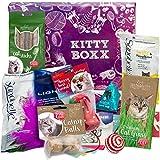 Kitty-Boxx (13 Teile) Geschenk für Katzenliebhaber - Geschenkbox mit Katzenspielzeug, Katzenfutter, Pflegeprodukten, praktischen Tipps und Utensilien als Geschenk für Katzenbesitzer und Katzen