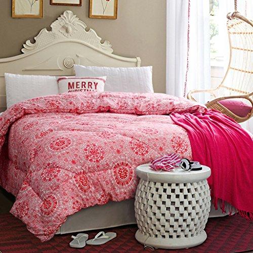 MMM Quilt de mariage épais Quilt Core hiver Marry rouge literie