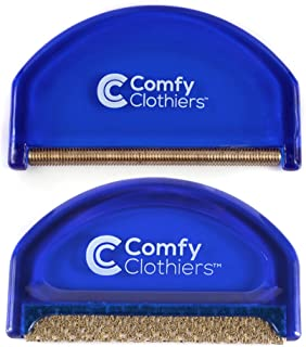 Comfy Clothiers Sweater Shaver & Cashmere Comb Combo Pack – Fabric Shaver Removes Pills, Fuzz and Lint from Garments