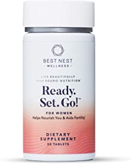 Ready. Set. Go! Fertility Support Prenatal Multivitamin for Women, Methylfolate (Folic Acid), Whole Food Herbal Fertility ...