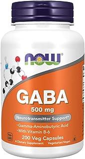 Now Foods GABA 500 mg - 200 Capsules (Pack of 2)