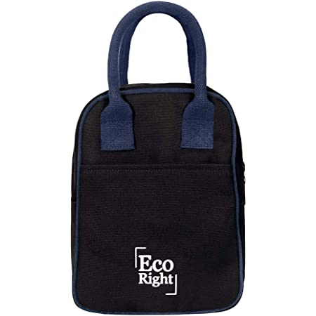 Eco Right Insulated Lunch Bag for Office Men, Women and Kids, Canvas Tiffin Bags for School, Picnic, Work, Carry Bag for Lunch Box