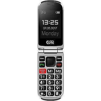 CPR CS900 Retro Flip Phone for Seniors - Big Buttons, Robocall Blocker and SOS Emergency Assist Function, 3G Unlocked