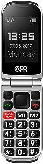 CPR Call Blocker CS900 Unlocked Flip Cell Phone - Big Button - SOS Emergency Assist (Gloss Red)