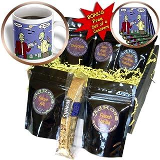 3dRose Rich Diesslins Funny General Cartoons - Halloween - Zombie Vegans - Coffee Gift Basket (cgb_3810_1)