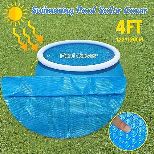 Dream-cool Poolabdeckung Rund Pool Abdeckplane Für 120cm Schwimmbad, Easy Set Pool Solarabdeckung, PE Bubble Solarfolie, Reduziert Die Wasserverdunstung Um 95