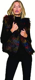 Raga 'Ramos' Multicolor Faux Fur Vest for Women