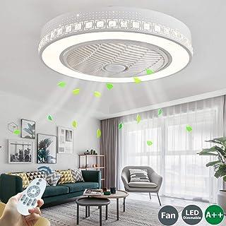 Ventilador De Techo LED Con Iluminación Lámpara De Techo Control Remoto Moderno Regulable Velocidad Viento Ajustable Lámpara Silenciosa Sala Niños Sala Estar Dormitorio LuzDeTecho