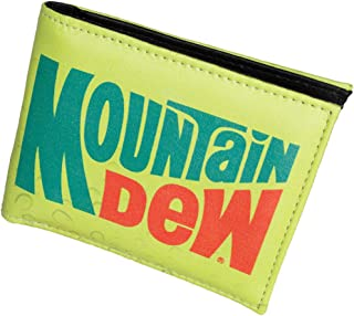 Mountain Dew Mens Wallet - Bifold Card Holder Imitation Leather Pepsi Co. Logo Licensed Accessory