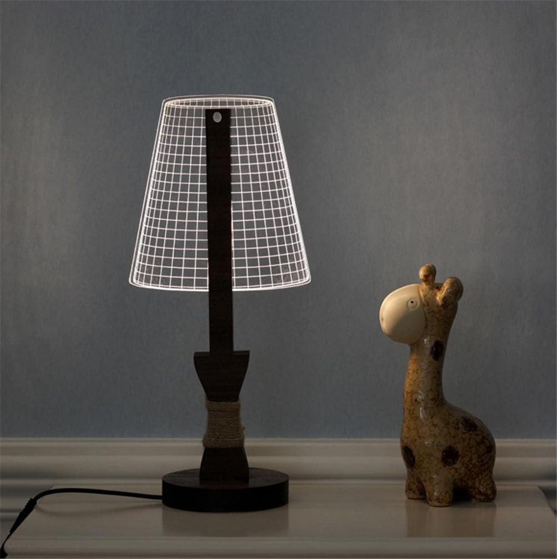 H&M Schreibtischlampe Nachttischlampe Ambiente Lampe studieren Schreibtischlampe Dimmer Control Helligkeitsebenen Eye-care Wohnzimmer Schlafzimmer Mesh 3D Acryl Massivholz Tischlampe