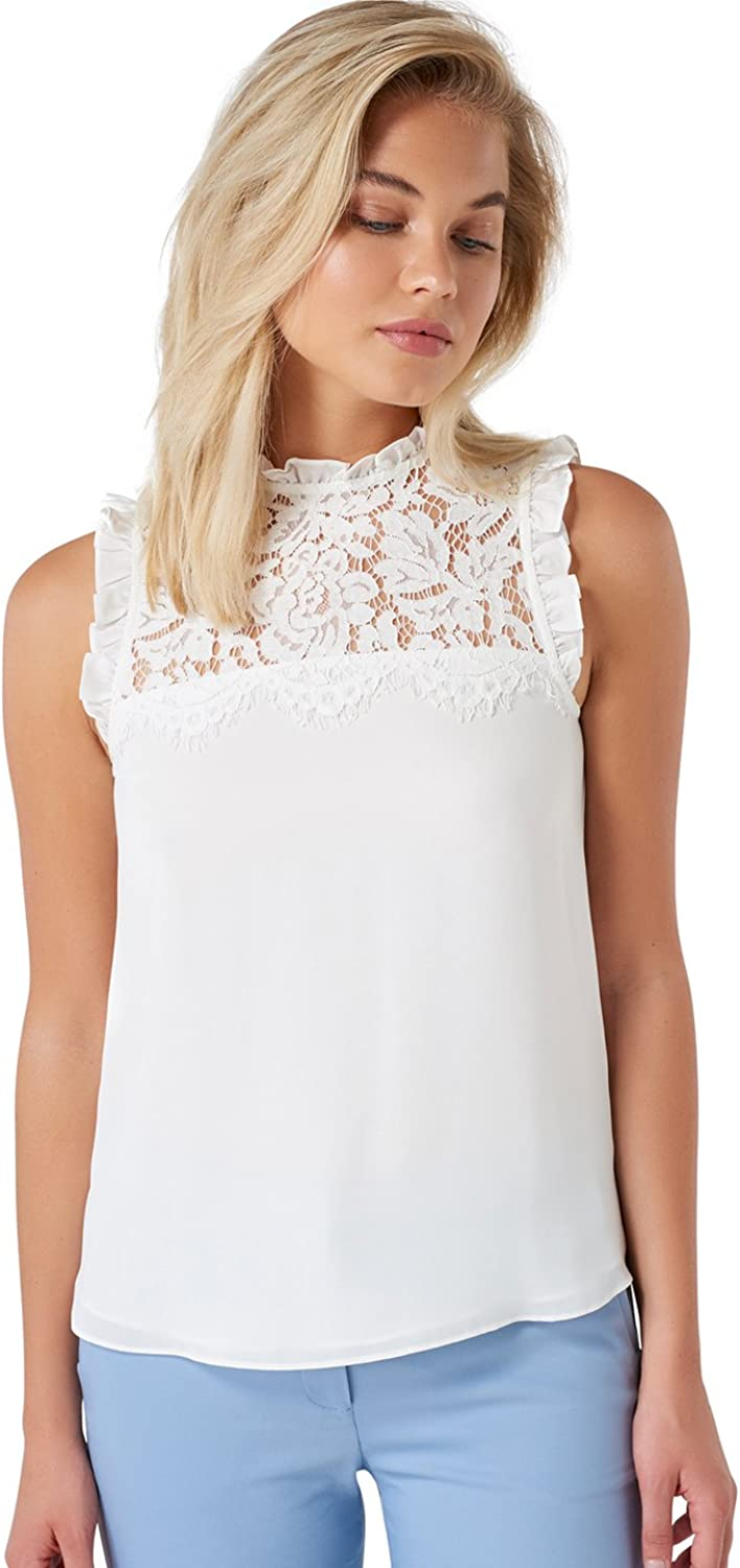 Ever New Womens Denise Lace Front Yoke Essential