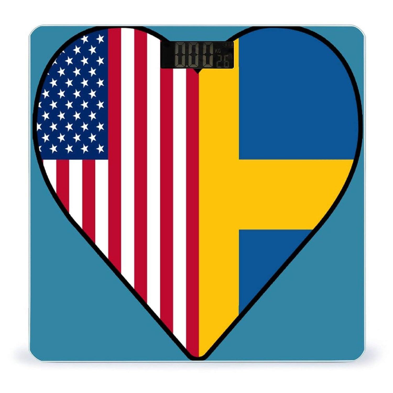 Indianapolis Mall Half Kansas City Mall Swedish Flag USA Love Digital HeartWeight Scale B