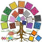 20 Pezzi Tamponi Colorati per Timbri, XCOZU Inchiostro Impronte Digitali Tampone Inchiostro Bambini, Inchiostro Lavabile per Impronte Tamponi Cuscinetto per Timbri Scrapbooking Tamponi a Dito