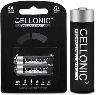 CELLONIC® Batería Premium Compatible con Garmin Oregon, Dakota, Montana, Monterra, Astro, GPSMAP, eTrex, eTrex Touch, Approach (2X 2600mAh) bateria de Repuesto, Pila reemplazo, sustitución