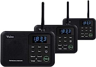 Wireless Intercom System, Wuloo 1 Mile Long Range 22 Channel 100 Digital Code Display Screen Security Intercom System Walk...