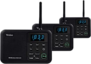 Wuloo Intercoms Wireless for Home 1 Mile Range 22 Channel 100 Digital Code Display..