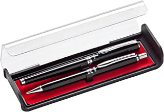 Pentel Libretto Roller Gel Pen and Pencil Set with Gift Box, Pen 0.7mm and Pencil 0.5mm, Black Barrels (K6A8A-A)