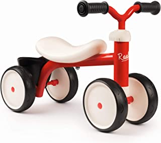 Smoby- Rookie Rojo Correpasillos 4 Ruedas, Color (721400