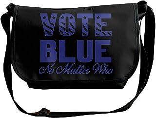 Vote Blue No Matter Who - Bolso bandolera para hombre y mujer, bolso de mensajero de moda para ir de compras, estudiar, ne...