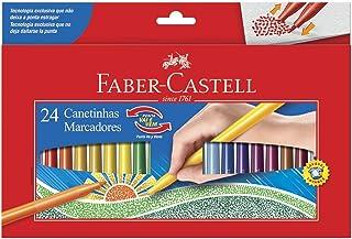 Canetinha Ponta Vai e Vem 24 Cores, Faber-Castell