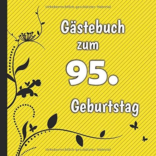 Gästebuch zum 95. Geburtstag: Gästebuch in Rot Blau und Weiß für bis zu 50 Gäste | Zum...