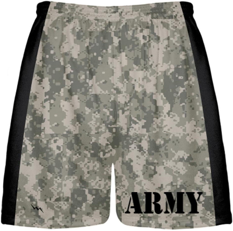 LightningWear Army Dark Camouflage Short  Mens Boys Lacrosse Shorts Camo Army