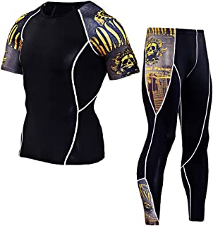 Dancehand Compression T Shirts Pants Man Workout Leggings Fitness Sports Gym Running Yoga Athletic Suit