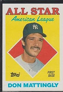1988 Topps Don Mattingly Yankees All Star Baseball Card #386