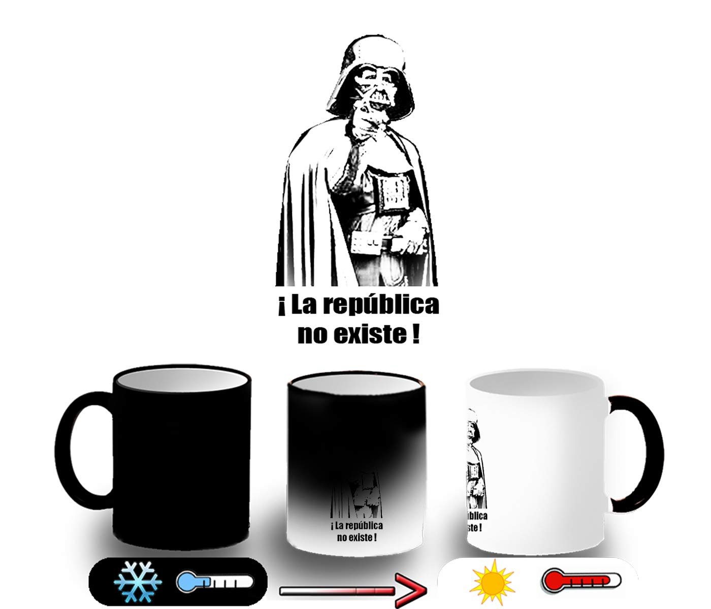 MERCHANDMANIA Taza MÁGICA LA Republica NO Existe ESPAÑA Magic mug: Amazon.es: Deportes y aire libre