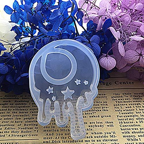 Busirde 1pcs Star/Lune/Fleur Moule Silicone Moule de résine Moule Transparent, Moule époxy Bijoux Bijoux et Montres Pendentif Bricolage Making