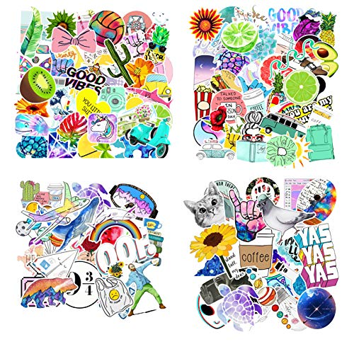 Sticker Packs, Cute Water Bottle Sticker Packs Aesthetic for Kids Teens Boys and Girls, Waterproof Stickers Aesthetic for Water Bottles Laptop Hydroflask Phone Case Bikes Guitar Chromebook(200pcs)
