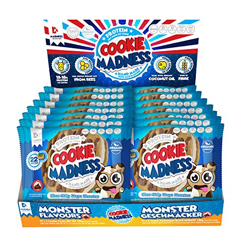 Madness Nutrition Cookie Madness, 12 x 106g, Geschmack: Choc-Chip Mega Monster