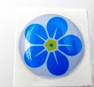 3D Doming Sticker Croce di ferro nero-bianco Set di 4