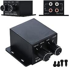 Nobsound Auto Car Amplifier Audio Subwoofer Bass Control Knob Sub Gain Equalizer Regulator Frequency Controller RCA Line Level Adjust