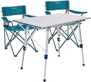 Table pique-nique Table Et Chaise Pliantes De Camping, Table À Manger Réglable À Jambes Fendues, Table De Camping En Plein...