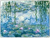 Claude Monet 《Nenúfares》 Pintura al óleo Cartel clásico Arte de pared vintage Monet Cuadro de lienzo Sala de estar moderna Comedor Decoración de pared 40x60cm Sin marco